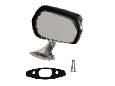 1970-74 AMC RH Painted Rearview Mirror w Chrome Base