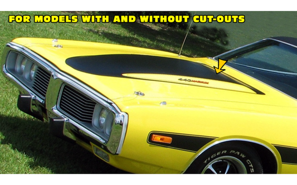 Graphic Express - 1973-74 Dodge Charger Power Bulge Hood