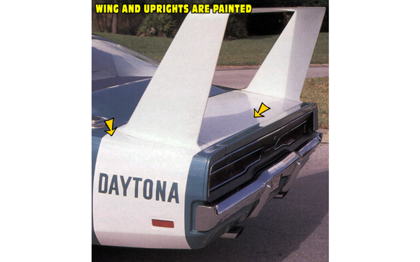 1969 Dodge Charger Daytona Stripes Kit - Daytona Name