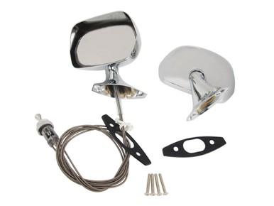 1970-74 AMC Chrome Rearview Mirror Kit
