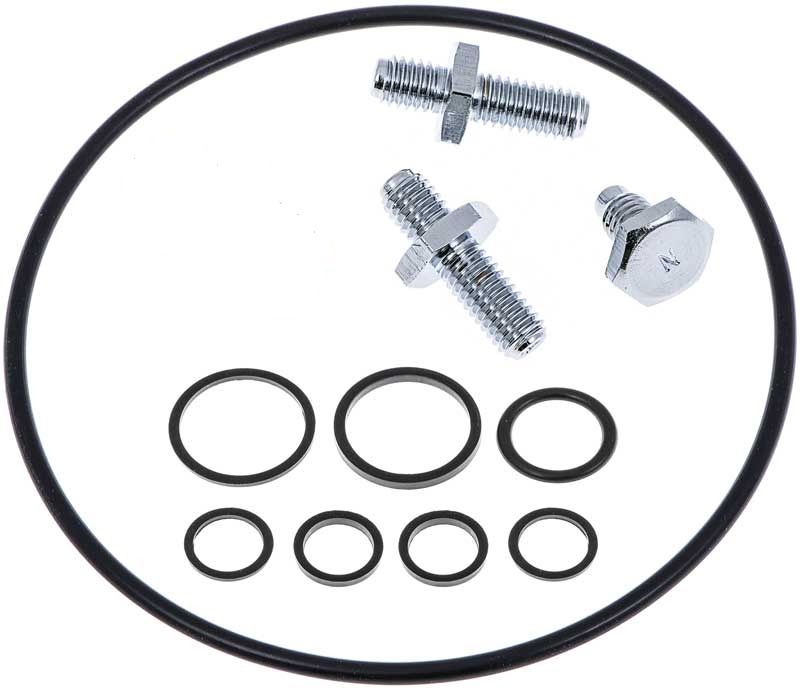 1962-77 GM & Mopar - Saginaw Power Steering Reservoir Installation Set - Chrome Finish