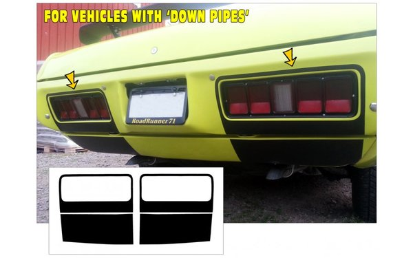 1971 Plymouth Road Runner - GTX - Bumper Pan Blackout - Up Pipes