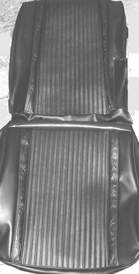 1966 Plymouth Satellite Front and Rear Seat Upholstery Covers