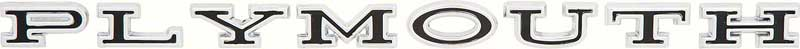 """1966-71 """"Plymouth"""" Hood / Trunk Letters"""