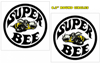 "1968-70 Dodge Coronet Super Bee Quarter Circle Decal Set - 6.2"" Round"