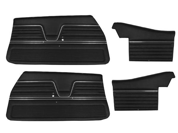 1969 Plymouth Road Runner Front Doors & Rear Quarter Trim Panels