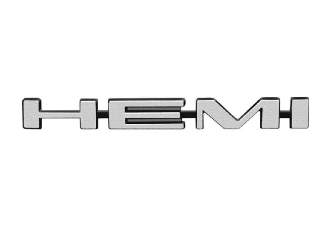 1969 Mopar B-Body Hemi Hood Emblem Fits Air Grabber / Ram Charger Hoods