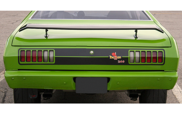 Muscle Car Decals >> 1971 1972 Dodge Demon Tail Panel Stripes Kit