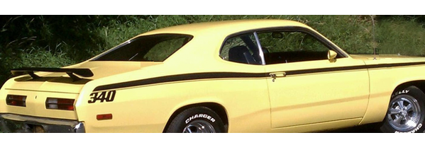 QG-267 1971-74 PLYMOUTH GOLD DUSTER - SIDE STRIPE ONLY