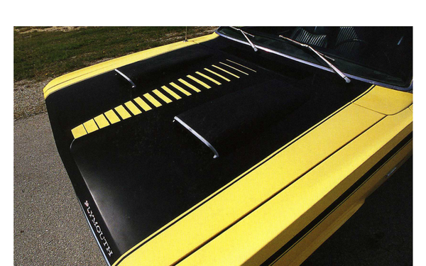 1971 1972 Plymouth Duster Twister Ladder Hood Treatment Stripes