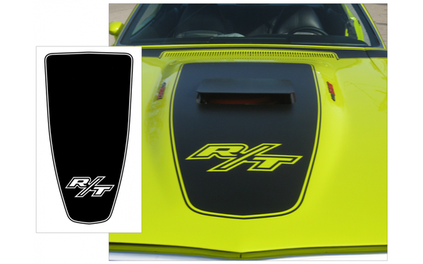 1971 Dodge Charger R/T Hood Blackout Stripes - R/T Logo