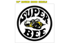 "1971 Dodge Charger Super Bee 10"" Circle Hood Decal - Bee Logo"