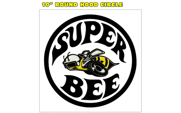 1971 Dodge Charger Super Bee 10 Circle Hood Decal Bee Logo