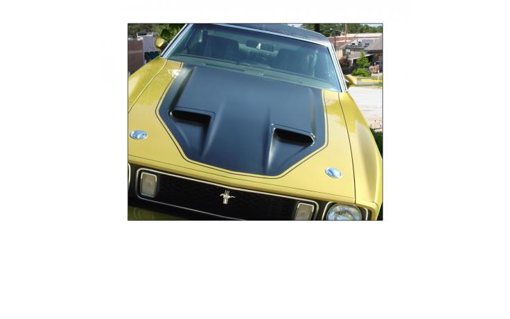 1971-73 Mustang Mach 1 NASA (NACA) Hood Paint Stencil Kit