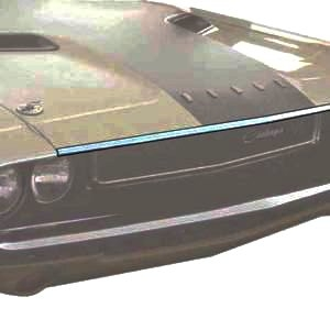 1971 Dodge Challenger Hood Lip Trim Molding With Extending Lip