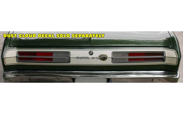 1972 Plymouth Duster Tail Panel Stripes Kit