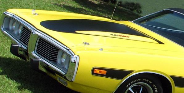 1973 1974 Dodge Charger Power Bulge Hood Paint Stencil