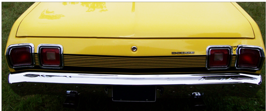1973 Dodge Dart Sport Tail Panel Stripes Kit