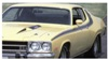 1973 Plymouth Road Runner Side & Solid Roof Stripe Kit - 2 Mirrors