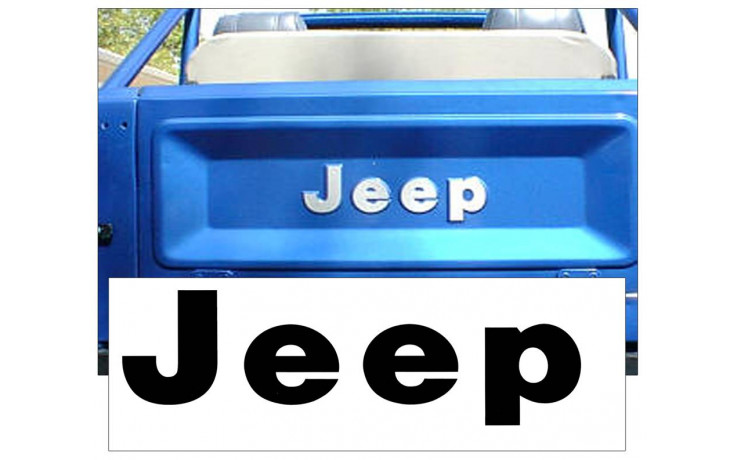 1975-86 Jeep CJ Tailgate Decal Letter Set