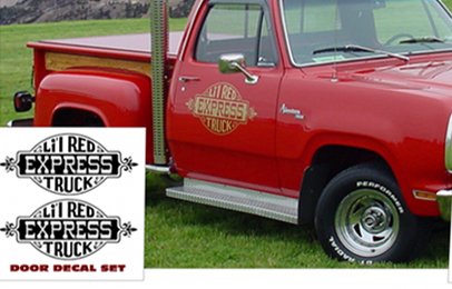 1978 1979 Dodge Li'l Red Express Truck Stripe and Lettering Decal Kit