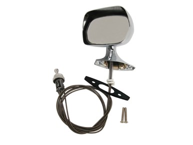 1970-74 AMC LH Chrome Remote Rearview Mirror