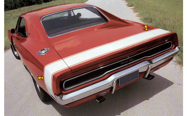 1970 Dodge Charger Bumble Bee Tail Stripes Kit