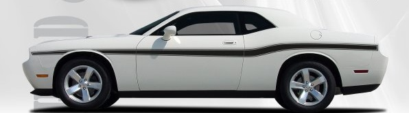 2009 2010 2011 2012 2013 2014 Dodge Challenger Hood and Beltline Stripes Kit