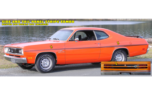 1970 Plymouth Duster Side and Tail Panel Stripes Kit