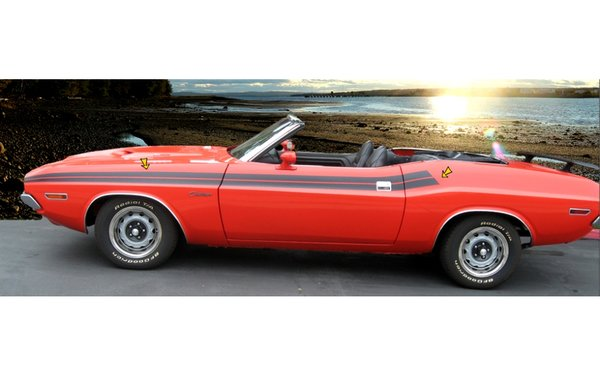 1971 Dodge Challenger Upper Body Side Stripes Kit