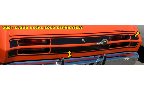 1971 Plymouth Duster Tail Panel Stripes Kit