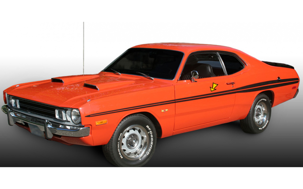 1971 1972 Dodge Demon Side Stripes Kit