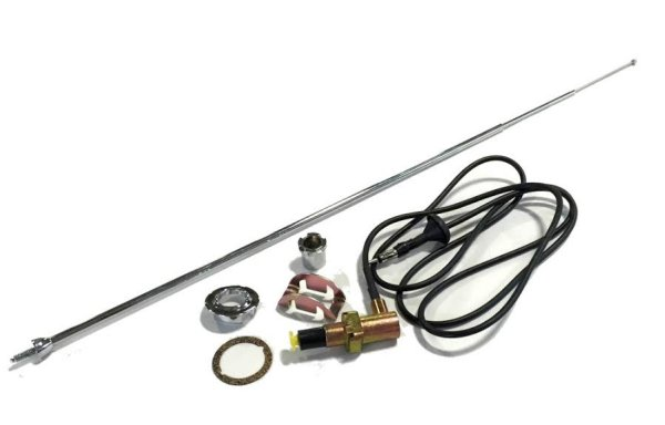 1968-1970 Dodge Charger Antenna Assembly Cable Wire & Telescopic Mast & Hardware