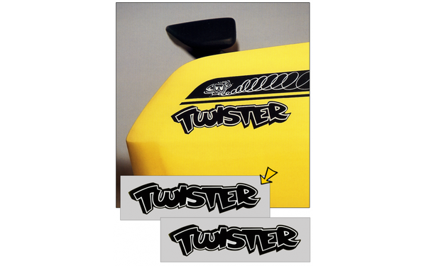 "1971 1972 1973 Plymouth Duster Twister Quarter Panel Decals Set - BLACK - 2.75"" X 10.75"""
