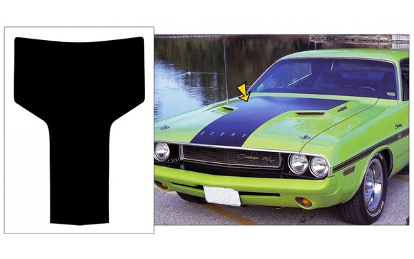 1970 1971 Dodge Challenger Hood Blackout Stripe Kit w/o R/T Logo