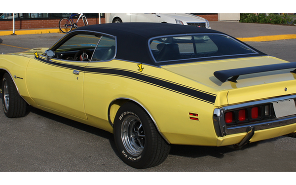 1971 Dodge Charger Super Bee Side and Cowl Stripes Kit