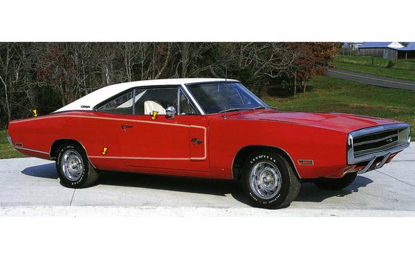 1970 Dodge Charger R/T Side C-Stripe Pinstripe Stripes Kit