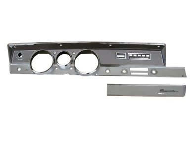 1967 A-body Woodgrain Rallye Dash Bezel Kit (AC)