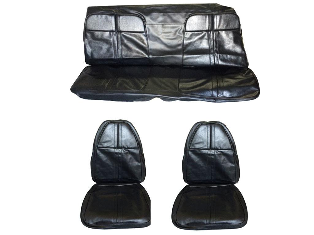 5505-BUK-100 1971 Cuda Barracuda Front Bucket Rear Bench Seat