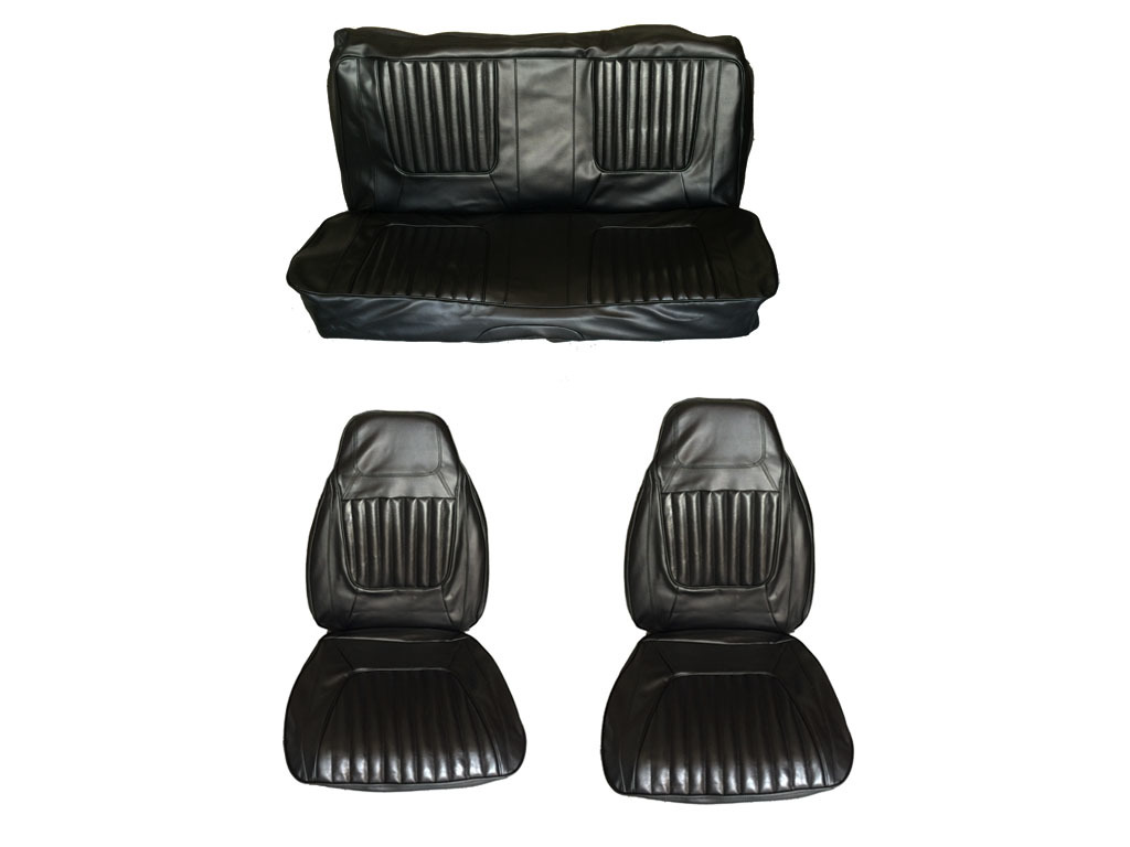 5506-BUK-100 1971 Challenger Front Bucket Rear Bench Seat Cover