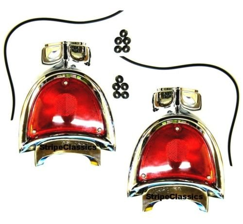 1957 Chevy Chevrolet Bel Air 150 210 Rear Tail Light Tail lamp Assembly (set of two)
