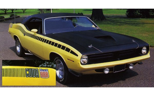 1970 Plymouth Cuda' AAR Strobe Stripes Kit