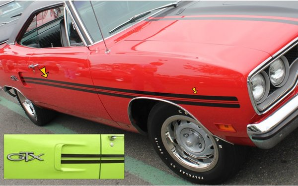 1970 Plymouth GTX Mid Body Stripe Kit