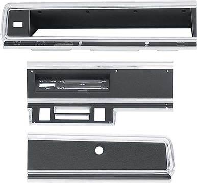 1967-69 Dodge Dart Dash Bezel Kit (no AC)