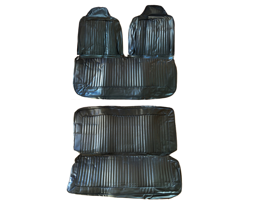 6605-BEN-100 1972 Duster Demon Front Bench Rear Bench Seat Cover