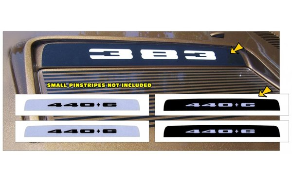 1971 Plymouth Road Runner or GTX Hood Bezel Decal - 440+6