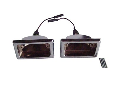 1966-67 Dodge Charger and Coronet Back-Up Light Bezels