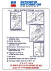 1970 Challenger and Barracuda Jack Instructions Decal (except T/A and AAR)