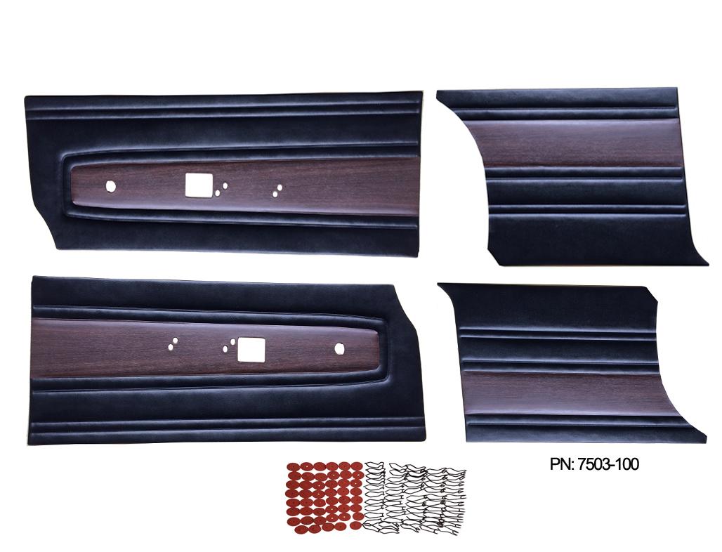 7503-C Mopar 1968 Satellite Roadrunner Door Panel Front & Rear Set
