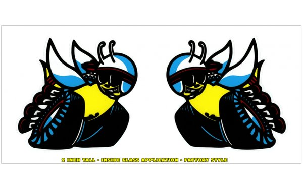 "1970 Dodge R/T Scat Pack Window Bee Decals Set - 2"" Tall - Inside Application"
